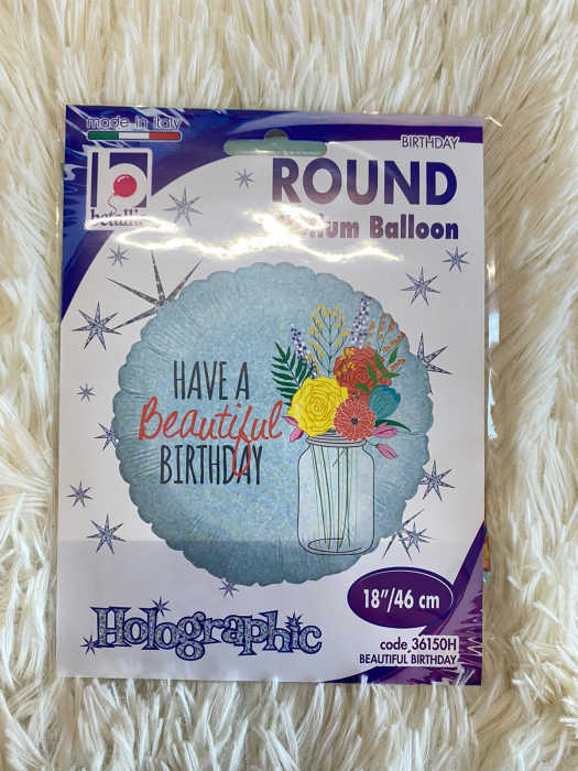 Balon folie rotund Have a Beautiful Birthday 46 cm [3]
