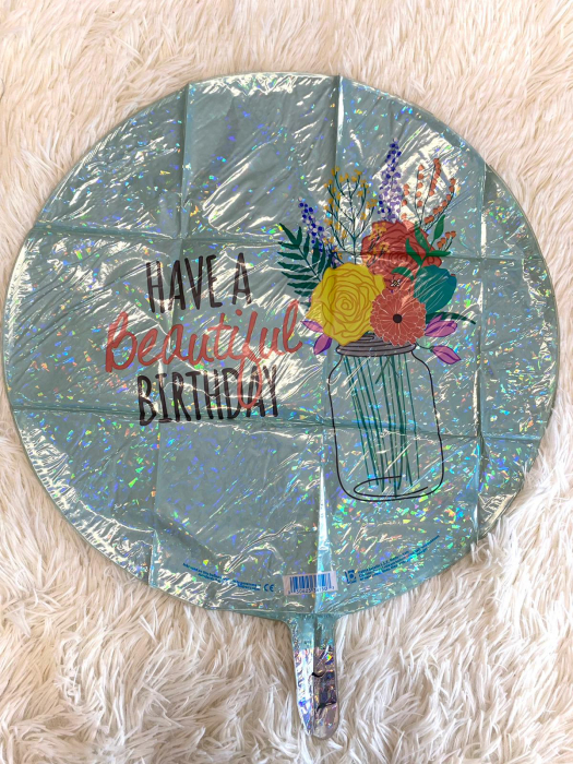 Balon folie rotund Have a Beautiful Birthday 46 cm [1]