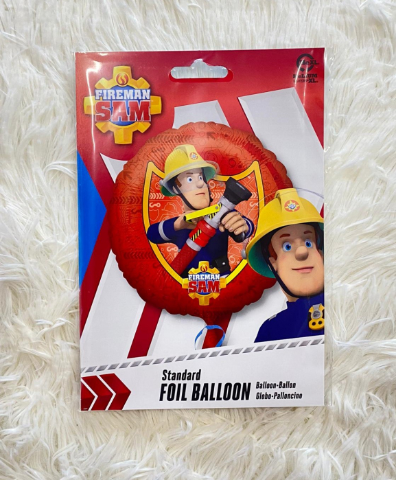 Balon folie rotund rosu Pompierul Sam 45 cm [2]