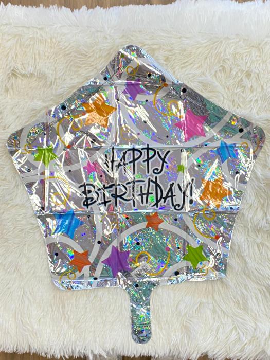 Balon folie stea Happy Birthday confetti 45 cm [1]