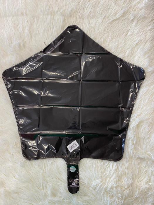 Balon folie stea neagra 43 cm 1