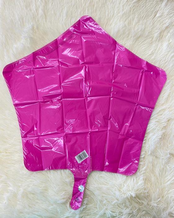 Balon folie stea roz Bubble Gum 43 cm 1