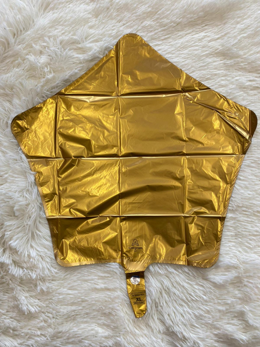 Balon folie Stea Satin Gold Auriu 45 cm 1
