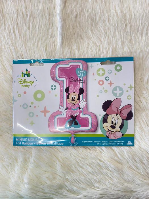 "Balon folie SuperShape Prima aniversare ""Minnie Mouse 1st Birthday"" 48 x 71cm [2]"