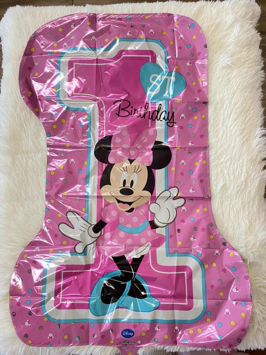 "Balon folie SuperShape Prima aniversare ""Minnie Mouse 1st Birthday"" 48 x 71cm [1]"