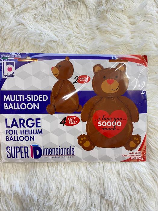 Balon folie urs I LOVE YOU SOOO MUCH 120 cm 4
