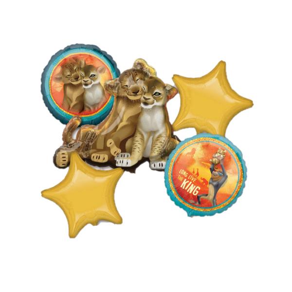Buchet 5 baloane folie Lion King / Regele leu 0026635398770 0