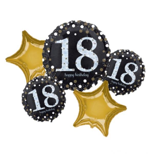 Buchet 5 baloane folie majorat 18 ani 0