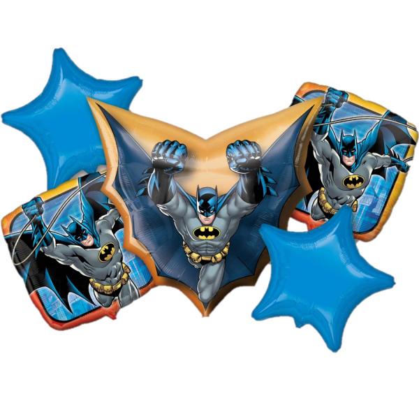 Buchet 5 baloane folie Batman 0026635327176 0
