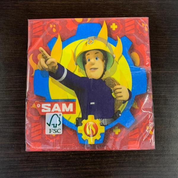 Set 20 servetele Pompierul Sam / Fierman Sam 33cm 0013051743383 [1]
