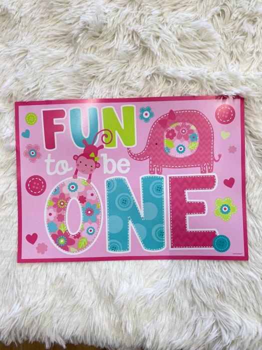 Kit decoratiuni carton camera 1 an fetita 10 buc 1