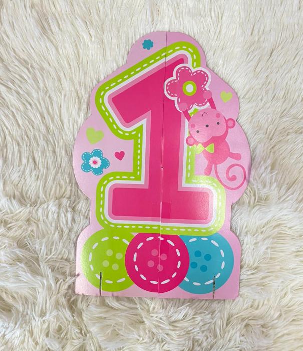 Kit decoratiuni carton masa 1 an fetita 23 bucati 3