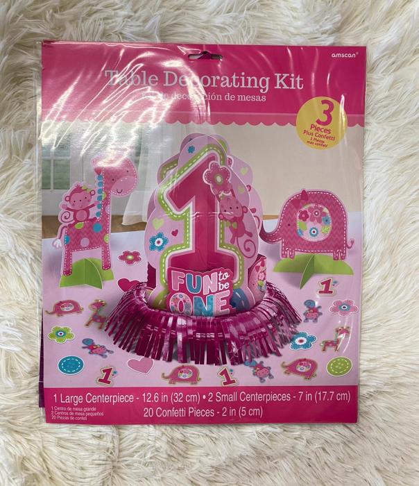 Kit decoratiuni carton masa 1 an fetita 23 bucati 9
