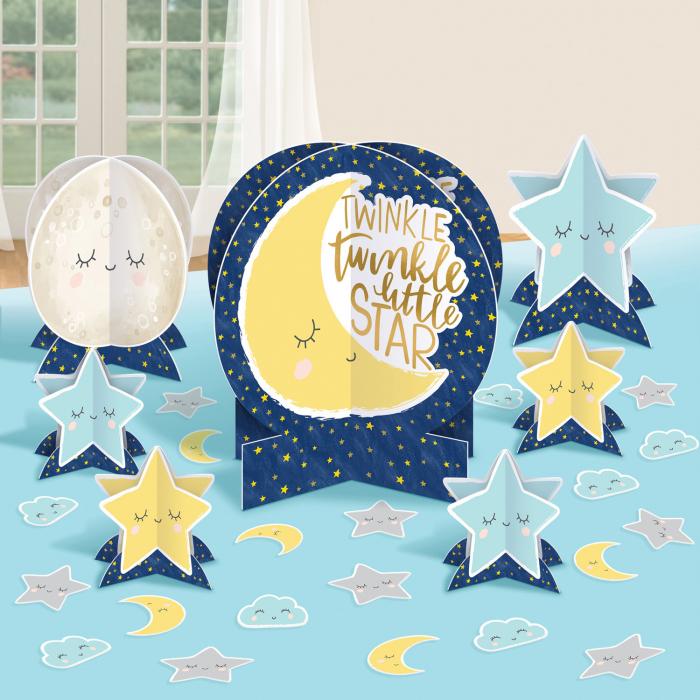 Kit decoratiuni carton masa Twinkle Little star 27 buc [0]
