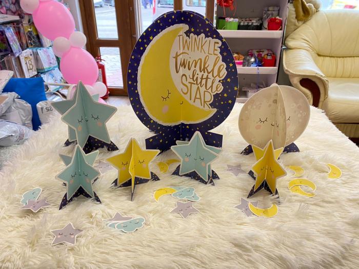 Kit decoratiuni carton masa Twinkle Little star 27 buc [2]