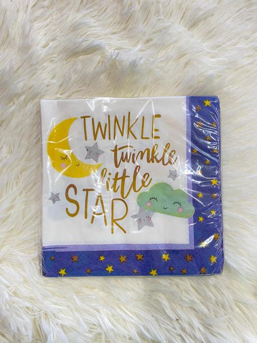 Set 16 servetele Luna nori stele Twinkle Little Star 33 * 33 cm [1]