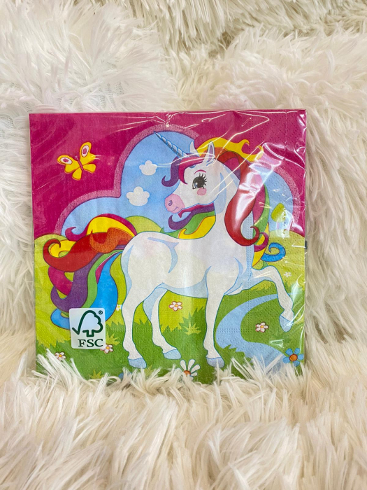 Set 20 servetele hartie Unicorn Multicolor 33 * 33 cm [1]