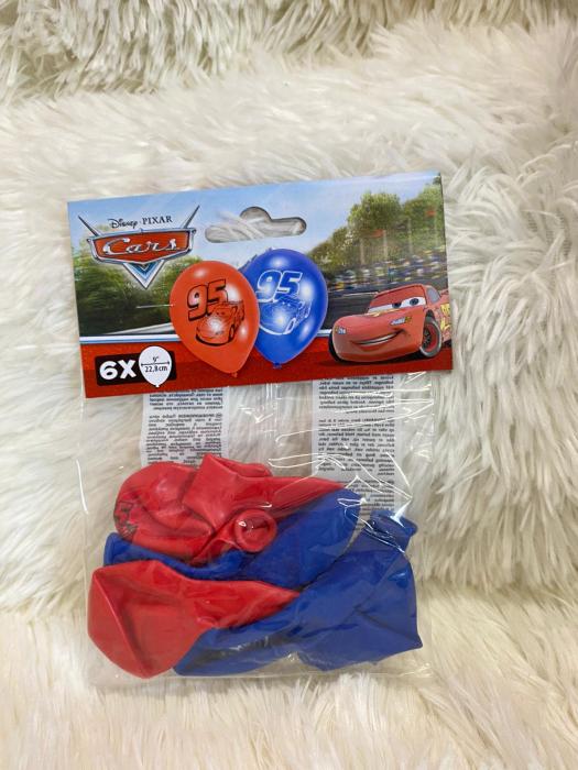 Set 6 baloane latex Cars 22.8 cm [1]