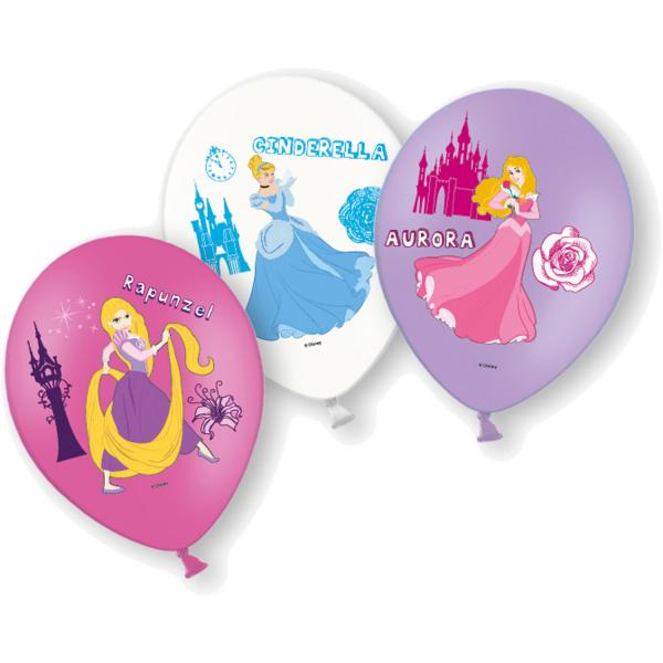Set 6 baloane latex printese imprimate Disney Princess 27.5cm 0013051558963 0