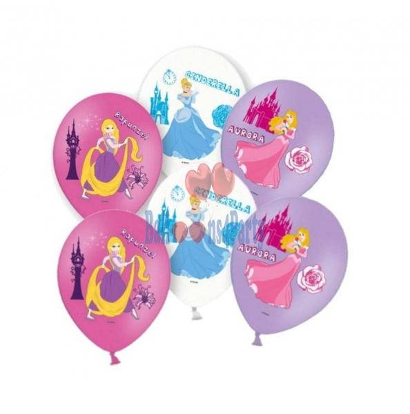 Set 6 baloane latex printese imprimate Disney Princess 27.5cm 0013051558963 1