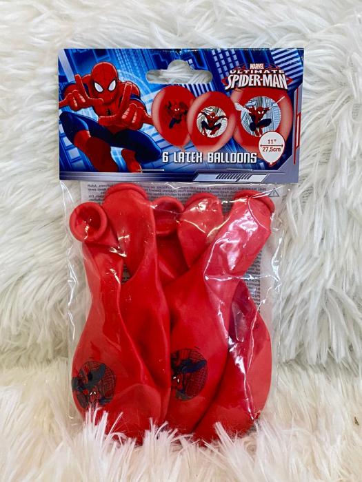 Set 6 baloane latex imprimate Spiderman 27.5cm 0013051559014 3