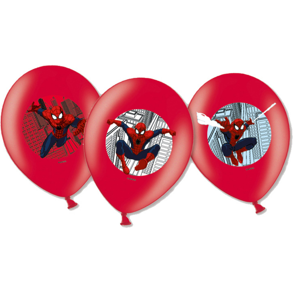 Set 6 baloane latex imprimate Spiderman 27.5cm 0013051559014 [0]