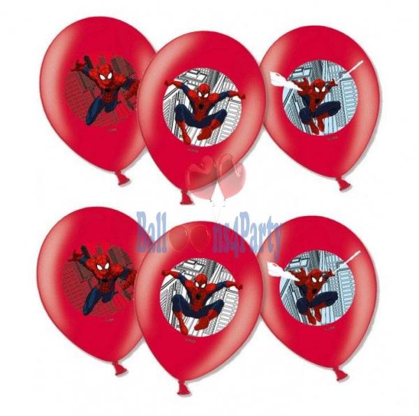 Set 6 baloane latex imprimate Spiderman 27.5cm 0013051559014 [1]