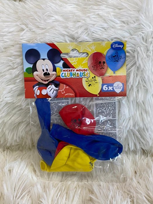 Set 6 baloane Mickey Mouse 23 cm 2