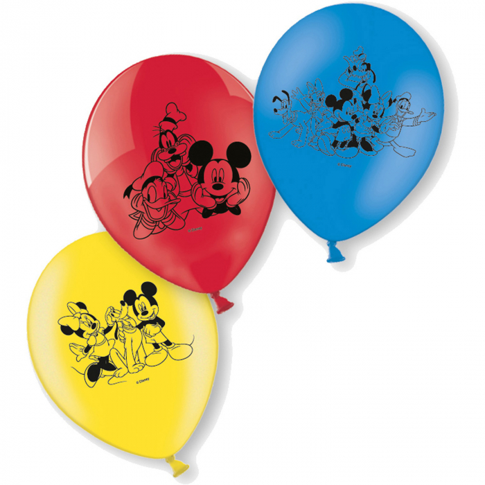 Set 6 baloane Mickey Mouse 23 cm 0