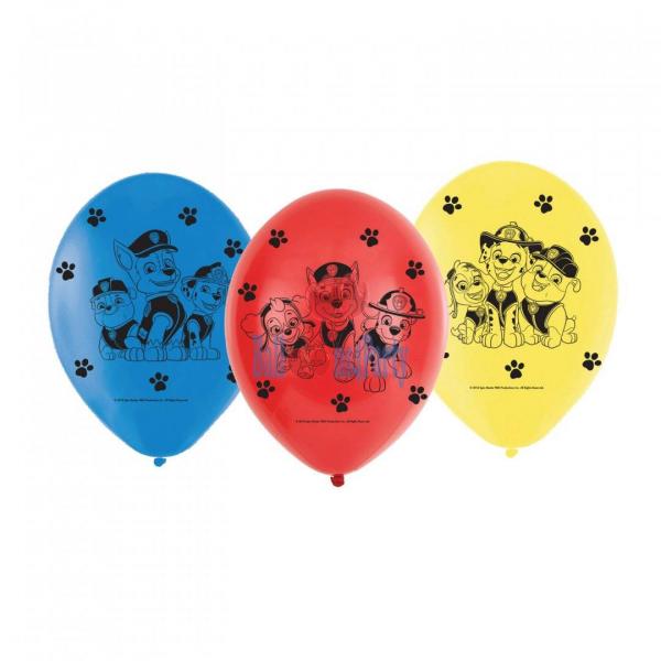 Set 6 baloane Paw Patrol 23 cm [0]