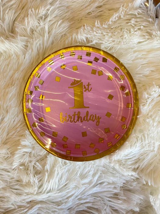 Set 8 farfurii 1 an roz 18 cm 013051760311 [1]
