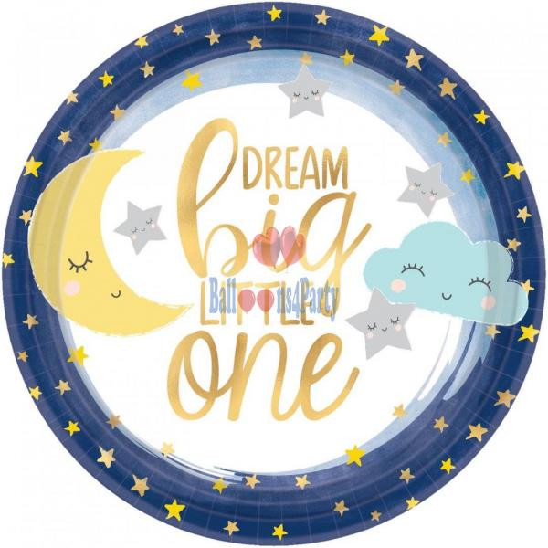 Set 8 farfurii luna nori stele Twinkle Little Star 18 cm [0]