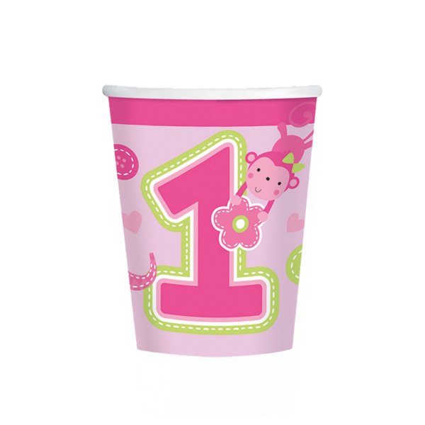 Set 8 pahare Prima aniversare roz fata 266ml 0013051514556 1
