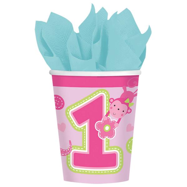 Set 8 pahare Prima aniversare roz fata 266ml 0013051514556 0