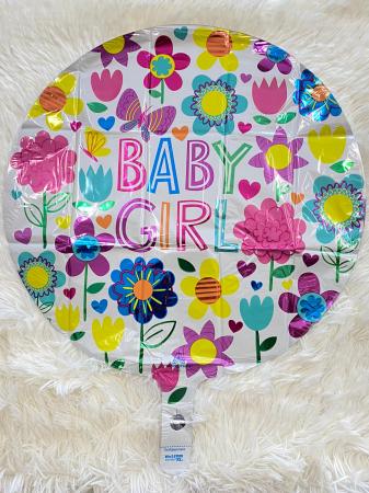 Balon folie Baby Girl floricele 43 cm1