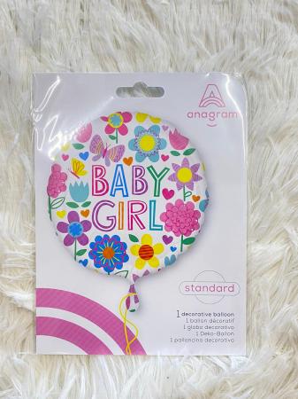 Balon folie Baby Girl floricele 43 cm [2]