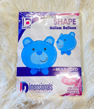Balon folie cap urs albastru 3D 69 cm [6]