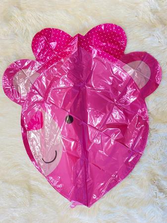 Balon folie cap urs roz 3D 69 cm [2]