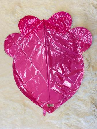 Balon folie cap urs roz 3D 69 cm [3]
