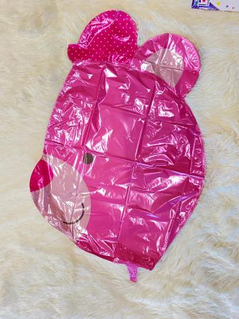 Balon folie cap urs roz 3D 69 cm [4]