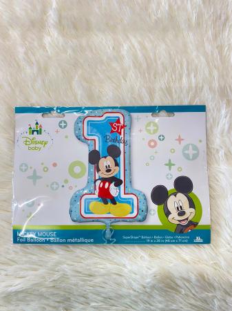 Balon folie cifra 1 Mickey Mouse 71 x 48 cm [2]