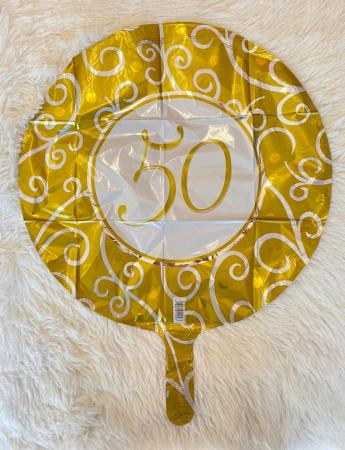Balon folie imprimat 50 ani auriu 45cm1