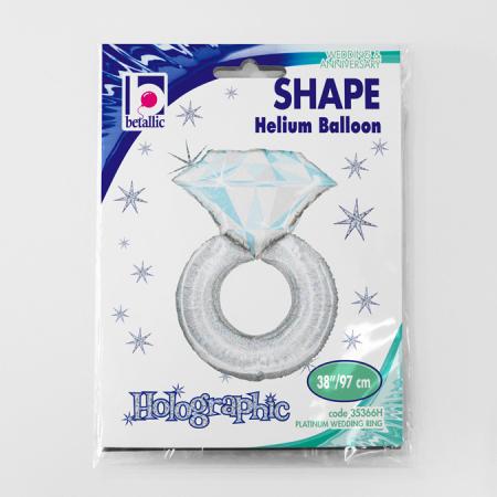 Balon folie inel diamant platinum 97 cm [1]