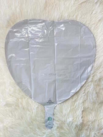 Balon folie inima alba 43 cm [1]