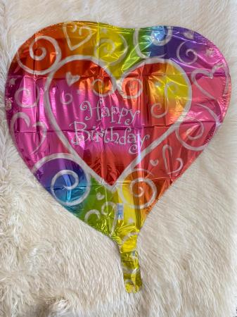 Balon folie Inima Multicolor Happy Birthday 38 cm 0026635076357 [1]