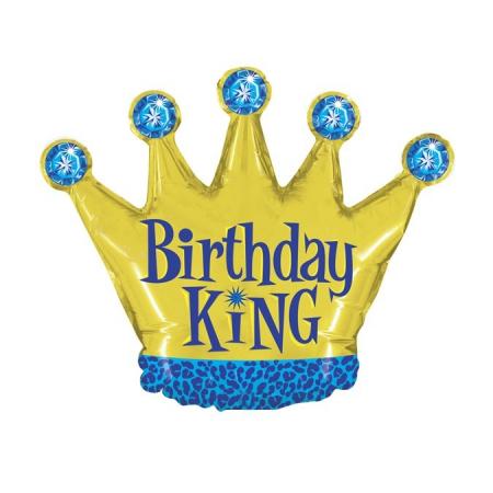 Balon folie mini figurina coroana rege / Little King 32 * 38 cm [0]