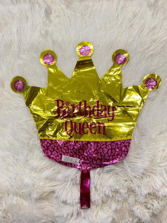 Balon folie mini figurina coroana regina / Little Queen 32 * 38 cm3
