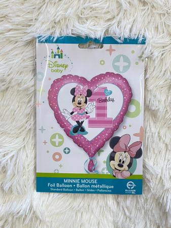 Balon folie Minnie 1st Birthday 43cm 0266353435032