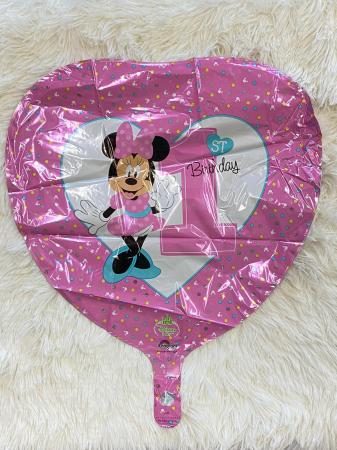 Balon folie Minnie 1st Birthday 43cm 0266353435031