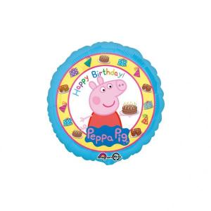 Balon folie Peppa Pig Happy Birthday 43cm 00266353159200